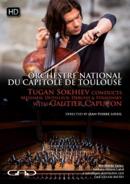 Poster of Tugan Sokhiev conducts Messiaen, Dutilleux, Debussy and Stravinsky with Gautier Capuçon (cello)