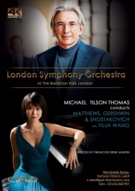 Poster of Michael Tilson Thomas conducts Matthews, Gershwin and Shostakovich with Yuja Wang