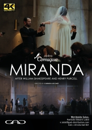 Affiche de Miranda d'après William Shakespeare et Henry Purcell à l'Opéra Comique