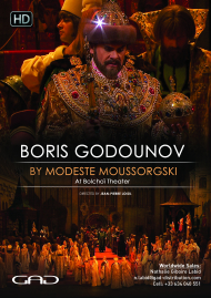 Poster of Boris Godounov by Modeste Moussorgski At Bolshoï Theater