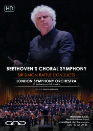 Poster of Beethoven's Choral Symphony – Sir Simon Rattle conducts the London Symphony Orchestra