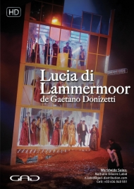 Poster of Lucia Di Lammermoor by Gaetano Donizetti at the Gran Teatre del Liceu, Barcelona