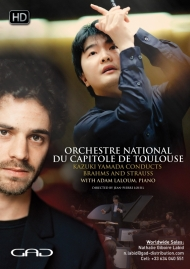 Poster of Toulouse National Capitol Orchestra - Kazuki Yamada conducts Brahms and Strauss with Adam Laloum