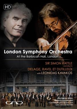 Affiche de Sir Simon Rattle dirige Delage, Ravel et Dutilleux avec Leonidas Kavakos
