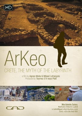 Poster of Crete, the myth of the labyrinth (Greece)