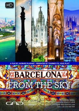 Poster of Barcelona from the sky