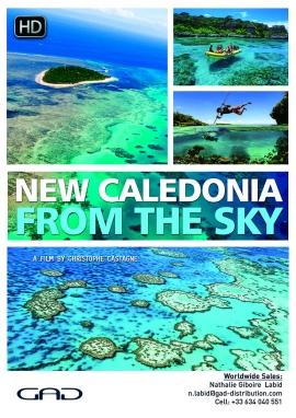 Affiche de La Nouvelle Calédonie vue du ciel