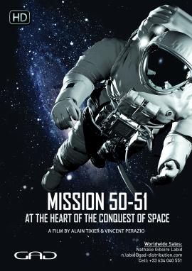 Affiche de Mission 50-51 - Au cœur de la conquête spatiale