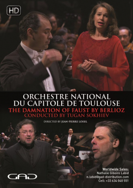 Poster of The damnation of Faust by Berlioz