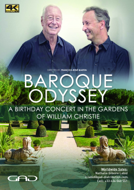 "Poster of ""Baroque Odyssey"" A Birthday concert in the gardens of William Christie"
