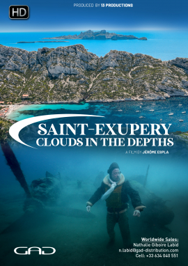 Poster of Saint-Exupery, clouds in the depths