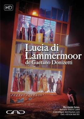 Affiche de Lucia Di Lammermoor de Gaetano Donizetti au Gran Teatre del Liceu de Barcelone