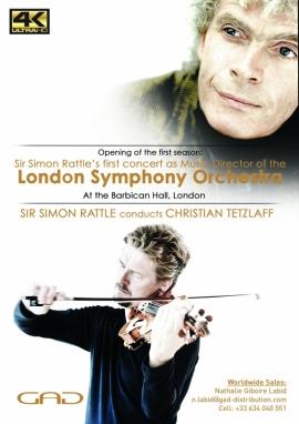 Affiche de Sir Simon Rattle dirige Christian Tetzlaff et le London Symphony Orchestra