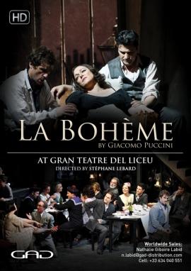 Affiche de La Bohème de Giacomo Puccini