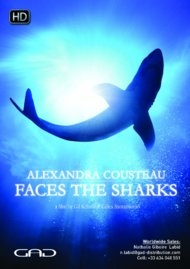 Poster of Alexandra Cousteau faces the sharks